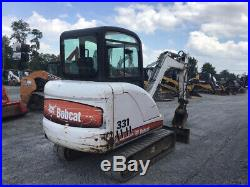 2008 Bobcat 331EG Hydraulic Mini Excavator with Cab Extend-A-Hoe Only 2400Hrs
