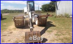 2008 Bobcat 337 Wilson Mini Floating Excavator TEXAS