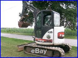 2008 Bobcat 435G Mini Excavator 2 Speed Kubota Turbo Diesel NO RESERVE