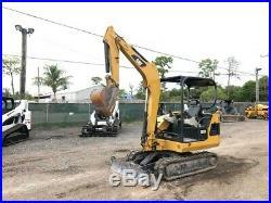 2008 Caterpillar 302.5C Mini Excavator Push Blade 2 Speed Rubber Tracks