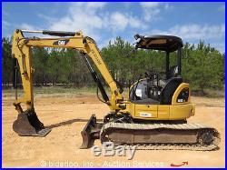 2008 Caterpillar 305C CR Mini Excavator Backfill Blade Aux Hydraulics