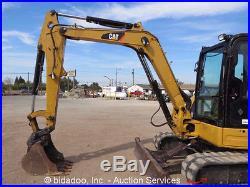 2008 Caterpillar 305C Hydraulic Mini Excavator A/C Cab Backfill Blade 49HP Midi