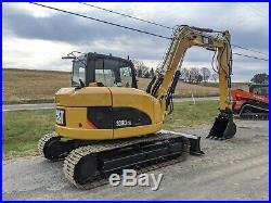 2008 Caterpillar 308D CR Midi Excavator Construction Hydraulic Coupler Machine