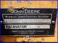 2008 John Deere 27D MINI EXCAVATOR Diesel job sight ready NICE SHAPE! Low Hour