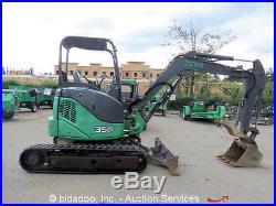 2008 John Deere 35D Mini Excavator Hyd Thumb Rubber Tracks Backhoe AUX Diesel