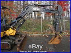 2008 John Deere 50D Mini Hydraulic Excavator Aux Hyd Thumb Q/C 38Hp Yanmar