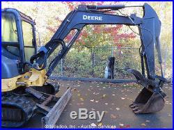 2008 John Deere 50D Mini Hydraulic Excavator Heated Cab A/C Thumb Rubber Tracks