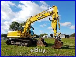 2008 Komatsu PC160LC-7 A E0 Excavator Diesel Track Hoe Machine Hydraulic Coupler