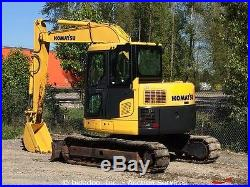 2008 Komatsu PC78US-8 Midi Hydraulic Excavator A/C Cab Backfill Blade Tier-3