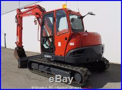 2008 Kubota KX080-3 Mini Excavator Rubber Tracks A/C Cab Angle Blade Aux Hyd
