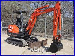 2008 Kubota KX91-3S2 Mini Excavator Swing Blade Rubber Tracks Backhoe bidadoo