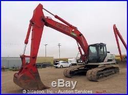 2008 Link Belt 240x2 Hydraulic Excavator 44 Bucket Diesel Cab A/C Heat bidadoo