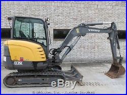 2008 Volvo EC35C Hydraulic Mini Excavator Backhoe Rubber Tracks Cab A/C bidadoo