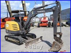 2008 Volvo EC35C Hydraulic Mini Excavator Backhoe Rubber Tracks Dozer bidadoo