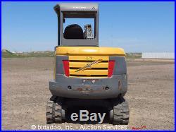 2008 Volvo EC35C Hydraulic Mini Excavator Trackhoe Rubber Track Dozer Diesel Aux
