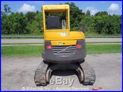 2008 Volvo ECR38 Hydraulic Mini Excavator Rubber Tracks Diesel bidadoo
