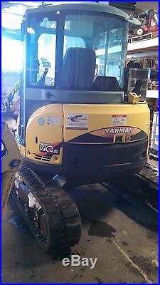 2008 Yanmar Vio-45-5 Mini Excavator, Cab, Heat/Air, Quick Disconnect