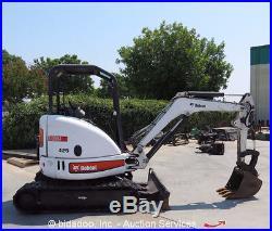 2009 Bobcat 425G Mini Excavator Rubber Track Backhoe Blade Aux Hydraulic bidadoo