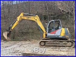 2009 Gehl 1202 Track Excavator G12002RD Diesel Swing Boom Cab AC/Heat
