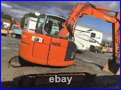 2009 Hitachi ZX75 Hydraulic Midi Excavator with Cab & Coupler Super Clean