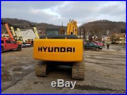 2009 Hyundai Robex 160LC-7 Crawler Excavator Cab AC Track Diesel Tooth Bucket