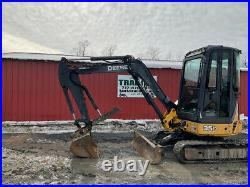 2009 John Deere 35D Hydraulic Mini Excavator with Cab & Thumb Only 3500 Hours