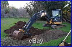 2009 John Deere 60D mini / midi excavator, 1100 hours