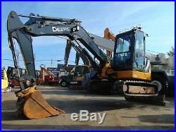 2009 John Deere 60d MIDI (14k Lbs) Excavator Ice Cold A/c Swing Boom