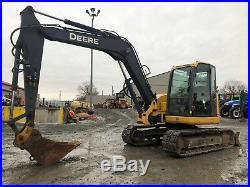2009 John Deere 85d MIDI Track Excavator Full Cab 2 Speed Backhoe Bobcat Dozer