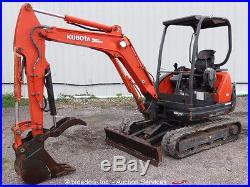 2009 Kubota KX71-3S Mini Excavator Rubber Tracks Backhoe Hydraulic Thumb