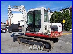 2009 Takeuchi TB175 Excavator Enclosed Cab Rubber Tracks