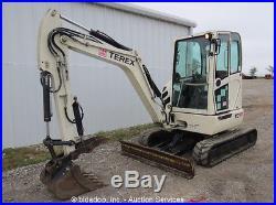 2009 Terex TC37 Mini Excavator Rubber Tracks Backhoe Aux Hyd Spare 12 Bucket