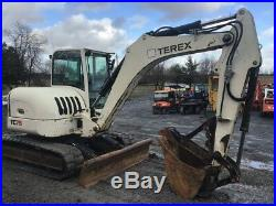 2009 Terex TC75 Midi Hydraulic Excavator with Cab & Thumb