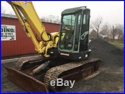 2009 Yanmar SV100 Hydraulic Excavator with Cab & Hydraulic Thumb 2 Buckets