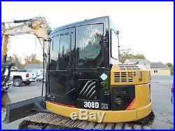 2010 CATERPILLAR 308D, BLADE, 1 OWNER, CLEAN, LIKE NEW! CHEAP SHIPPING