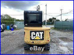 2010 Caterpillar 302.5C Mini Excavator Enclosed Cab Original Paint Aux Hyd