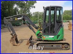 2010 John Deere 27D Mini Excavator Rubber Tracks A/C Cab Aux Hyd Backhoe