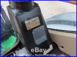 2010 John Deere 27D Rubber Track Mini Excavator Heated Cab A/C Aux Hyd 68 Blade