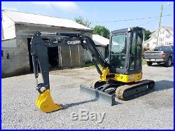 2010 John Deere 35D Hydraulic Mini Excavator Track Hoe Diesel Tractor Machine
