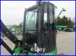 2010 John Deere 35D Mini Excavator Rubber Tracks Heated Cab A/C Aux Hyd Blade