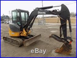 2010 John Deere 35d Mini Excavator, Cab, Ac/heat, 2spd, Hyd. Thumb, 29 HP Diesel