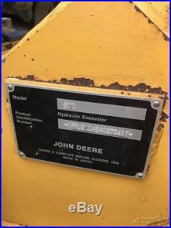 2010 John Deere 50D Rubber Track Midi-Excavator Cab AC Diesel Crawler Excavator