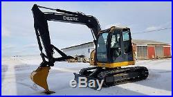 2010 John Deere 75D Midi Excavator Hydraulic Diesel Track Hoe Rubber Road Pads