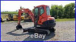 2010 Kubota KX121-3ST Mini Compact Hydraulic Excavator Tracked Hoe Plumbed Blade