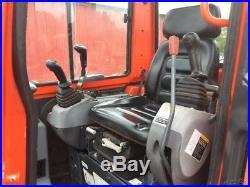 2010 Kubota KX121-3 Mini Excavator with Cab & 6 Way Blade