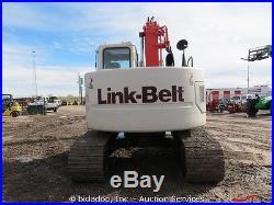 2010 Link Belt 135 Hydraulic Excavator Diesel Cab Auxiliary Hydraulics A/C Heat