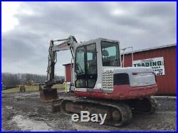 2010 Takeuchi TB175 Hydraulic Midi Excavator with Cab Hydraulic Thumb Only 3500Hrs