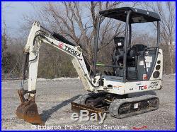 2010 Terex TC16 Mini Excavator Aux Hyd Dozer Blade Extendable Tracks Hoe bidadoo