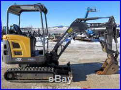 2010 Volvo EC20C Mini Excavator Rubber Tracks Aux Hyd Thumb 2-Spd Blade bidadoo
