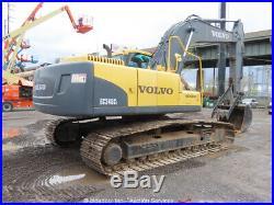 2010 Volvo EC240CL Hydraulic Excavator A/C Cab Aux Hyd Diesel Thumb bidadoo
